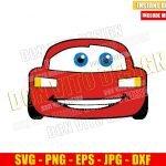 Disney Lightning Mcqueen (SVG dxf png) Cars Movie Race Car Face Cut File Cricut Silhouette Vector Clipart T-Shirt Design Pixar svg