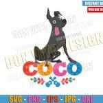 Dog Dante Coco Logo (SVG dxf png) Disney Movie Xolo Pet Cut File Cricut Silhouette Vector Clipart T-Shirt Design Day of the Dead svg