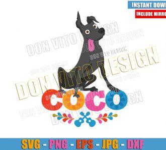 Dog Dante Coco Logo (SVG dxf png) Disney Movie Xolo Pet Cut File Cricut Silhouette Vector Clipart - Don Vito Design Store