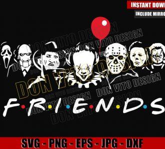 Halloween Friends Serial Killers (SVG dxf png) Michael Myers Jason Chucky Scream Team Cut File Cricut Silhouette Vector Clipart - Don Vito Design Store