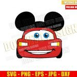 Lightning McQueen Mickey Ears (SVG dxf png) Disney Mouse Head Cars Cut File Cricut Silhouette Vector Clipart Design Pixar svg