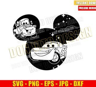 Mickey Head Cars Movie (SVG dxf png) Disney Mouse Ears Lightning McQueen Cut File Cricut Silhouette Vector Clipart - Don Vito Design Store