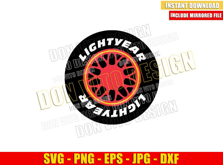 Lightyear Tire Cars Movie (SVG dxf png) Disney Lightning Mcqueen Tires Cut File Cricut Silhouette Vector Clipart - Don Vito Design Store