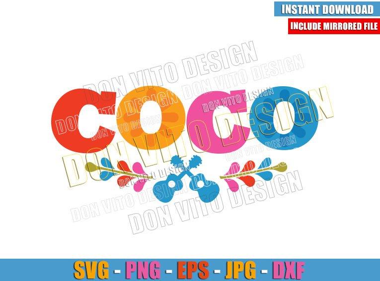 Logo Coco (SVG dxf png) Disney Movie inspired Day of the Dead Cut File Cricut Silhouette Vector Clipart - Don Vito Design Store