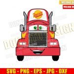 Mack Truck Cars Movie (SVG dxf png) Disney Pixar Transporter Vehicle Cut File Cricut Silhouette Vector Clipart Design Hauler svg