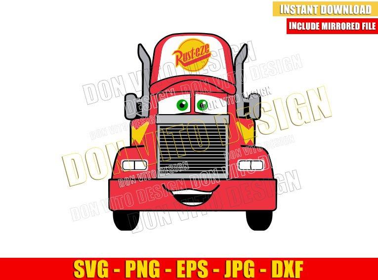 Mack Truck Cars Movie (SVG dxf png) Disney Pixar Transporter Vehicle Cut File Cricut Silhouette Vector Clipart - Don Vito Design Store