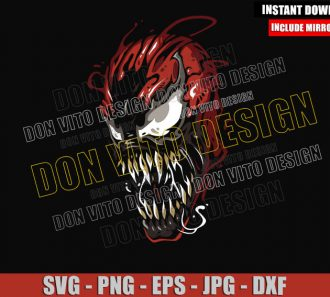 Marvel Carnage (SVG dxf png) Villain Red Symbiote Head Cut File Cricut Silhouette Vector Clipart - Don Vito Design Store
