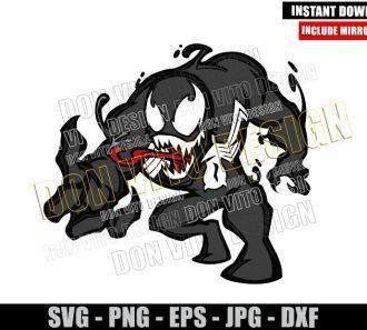 Marvel Venom Cartoon (SVG dxf png) Spiderman Enemy Movie Cut File Cricut Silhouette Vector Clipart - Don Vito Design Store