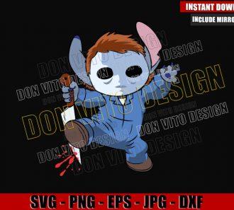 Michael Myers Stitch (SVG dxf png) Halloween Disney Lilo and Stitch Cut File Cricut Silhouette Vector Clipart - Don Vito Design Store