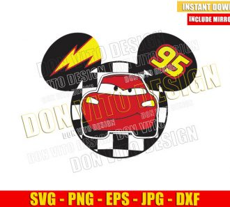 Mickey Mouse Lightning McQueen (SVG dxf png) Disney Head Ears Cut File Cricut Silhouette Vector Clipart - Don Vito Design Store