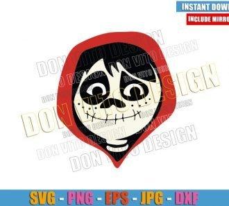 Miguel Coco Disney Head (SVG dxf png) Pixar Movie Logo Cut File Cricut Silhouette Vector Clipart - Don Vito Design Store