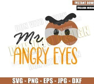 Mr Angry Eyes (SVG dxf png) Toy Story Mr Potato Quote Cut File Cricut Silhouette Vector Clipart - Don Vito Design Store