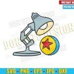 Pixar Lamp and Ball (SVG dxf png) Disney Toy Story Movie Logo Cut File Cricut Silhouette Vector Clipart T-Shirt Design Pixarfest svg