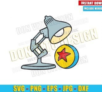 Pixar Lamp and Ball (SVG dxf png) Disney Toy Story Movie Logo Cut File Cricut Silhouette Vector Clipart - Don Vito Design Store