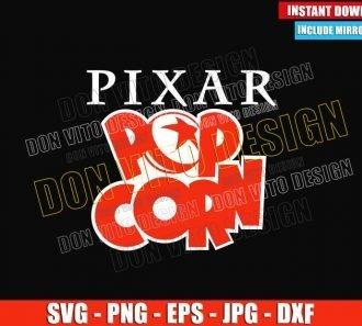Pixar Popcorn Logo (SVG dxf png) Disney Plus Tv Short Series Cut File Cricut Silhouette Vector Clipart - Don Vito Design Store