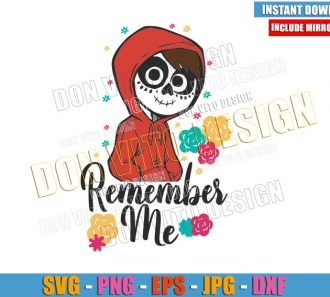Remember Me Miguel Skull (SVG dxf png) Coco Disney Movie Cut File Cricut Silhouette Vector Clipart - Don Vito Design Store
