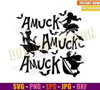 Sanderson Sisters Flying Amuck (SVG dxf png) Witches Halloween Cut File Cricut Silhouette Vector Clipart - Don Vito Design Store