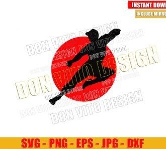 Shang Chi Flying Kick (SVG dxf png) Martial Arts Kung Fu Cut File Cricut Silhouette Vector Clipart - Don Vito Design Store