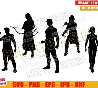 Shang Chi Silhouettes Bundle (SVG dxf png) The Legend of the Ten Rings Set Cut File Cricut Vector Clipart - Don Vito Design Store