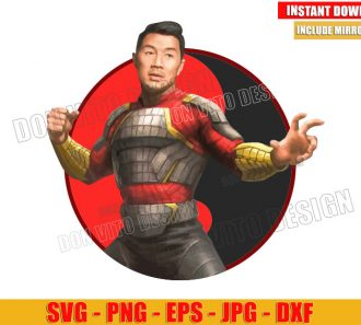 Shang Chi Ying Yang Symbol (SVG dxf png) Very Detailed Vector Clipart Design Photo Style Image - Don Vito Design Store