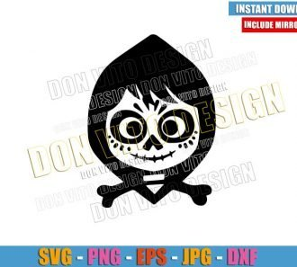 Skull Miguel Rivera Face (SVG dxf png) Halloween Coco Movie Cut File Cricut Silhouette Vector Clipart - Don Vito Design Store