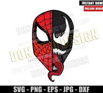 Spiderman Venom Head (SVG dxf png) Marvel Superhero Movie Cut File Cricut Silhouette Vector Clipart - Don Vito Design Store
