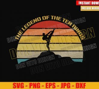 The Legend of the Ten Rings (SVG dxf png) Shang Chi Martial Arts Kung Fu Cut File Cricut Silhouette Vector Clipart - Don Vito Design Store