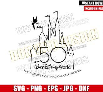 Tinkerbell Magic Castle 50th (SVG dxf png) Anniversary Walt Disney World Cut File Cricut Silhouette Vector Clipart - Don Vito Design Store