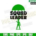 Toy Story Squad Leader (SVG dxf png) Toy Solider in Parachute Cut File Cricut Silhouette Vector Clipart T-Shirt Design Disney Pixar svg