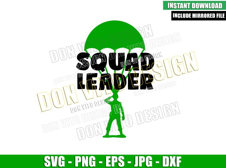 Toy Story Squad Leader (SVG dxf png) Toy Solider in Parachute Cut File Cricut Silhouette Vector Clipart - Don Vito Design Store
