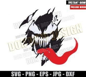 Venom Ripped Shirt (SVG dxf png) Marvel Movie Symbiote Cut File Cricut Silhouette Vector Clipart - Don Vito Design Store