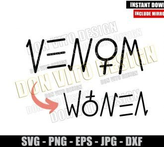 Venom Women Tattoo (SVG dxf png) Girl Logo Women's Rights Tiktok Cut File Cricut Silhouette Vector Clipart - Don Vito Design Store