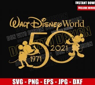 WDW 50th 1971-2021 (SVG dxf png) Mickey Mouse Walt Disney World Cut File Cricut Silhouette Vector Clipart - Don Vito Design Store