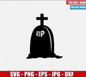 Gravestone RIP with Cross SVG Free Cut File for Cricut Silhouette Freebie Halloween Clipart Vector PNG Image Download Free