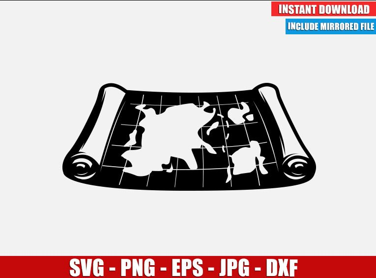 Pirate Map SVG Free Cut File for Cricut Silhouette Freebie Old Map of the World Clipart Vector PNG Image Download Free