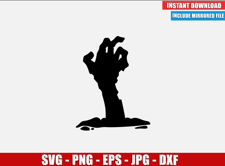 Zombie Hand SVG Free Cut File for Cricut Silhouette Freebie Halloween Clipart Vector PNG Image Download Free