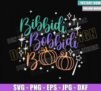 Bibbidi Bobbidi Boo Halloween (SVG dxf png) Disney Pumpkin Cut File Cricut Silhouette Vector Clipart - Don Vito Design Store