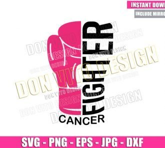 Boxing Gloves Fighter Cancer (SVG dxf png) Breast Cancer Month Cut File Cricut Silhouette Vector Clipart - Don Vito Design Store