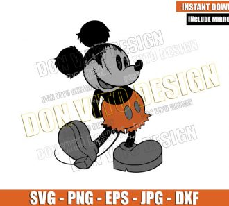 Classic Mickey Mouse Frankenstein (SVG dxf png) Disney Halloween Cut File Cricut Silhouette Vector Clipart - Don Vito Design Store
