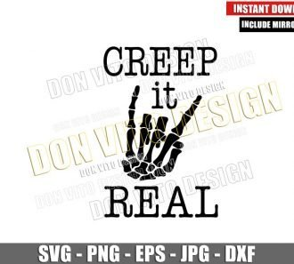 Creep It Real Skull Hand (SVG dxf png) Skeleton Fingers Cut File Cricut Silhouette Vector Clipart - Don Vito Design Store