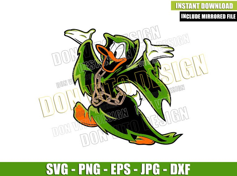 Donald Duck Ghoul Costume (SVG dxf png) Disney Parks Halloween Cut File Cricut Silhouette Vector Clipart - Don Vito Design Store