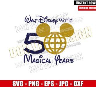 Epcot Mickey 50th Anniversary (SVG dxf png) Walt Disney World Park Cut File Cricut Silhouette Vector Clipart - Don Vito Design Store