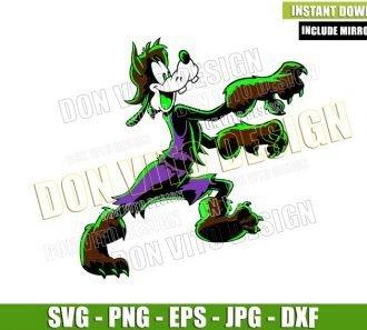 Goofy WereWolf Costume (SVG dxf png) Disney Parks Halloween Cut File Cricut Silhouette Vector Clipart - Don Vito Design Store