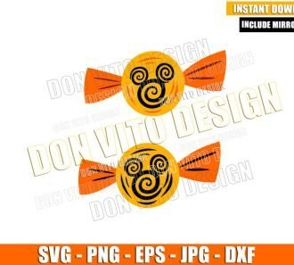 Halloween Candies Mickey Swirl (SVG dxf png) Disney Mouse Head Cut File Cricut Silhouette Vector Clipart - Don Vito Design Store