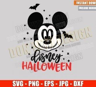 Mickey Jack Disney Halloween (SVG dxf png) Skellington Head Cut File Cricut Silhouette Vector Clipart