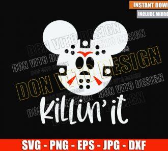 Mickey Jason Head Killin It (SVG dxf png) Halloween Disney Mouse Cut File Cricut Silhouette Vector Clipart - Don Vito Design Store