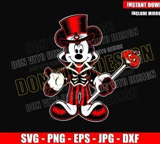 Mickey Mouse Spooky Costume (SVG dxf png) Halloween Skeleton Hat Cut File Cricut Silhouette Vector Clipart - Don Vito Design Store