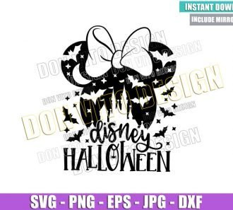 Disney Halloween Minnie Head (SVG dxf png) Mouse Ears Bow Cut File Cricut Silhouette Vector Clipart - Don Vito Design Store