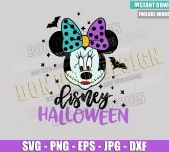 Minnie Sally Disney Halloween (SVG dxf png) Nightmare Before Christmas Cut File Cricut Silhouette Vector Clipart - Don Vito Design Store