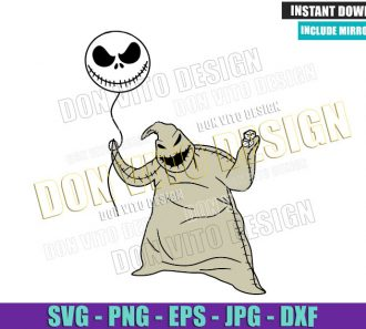 Oogie Boogie Jack Balloon (SVG dxf png) Halloween Movie Cut File Cricut Silhouette Vector Clipart - Don Vito Design Store